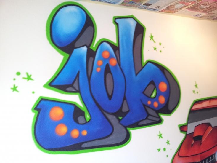 Graffiti Slaapkamer Job | 123 Graffiti
