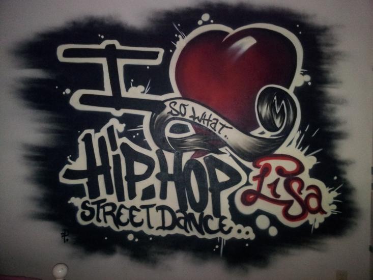 Graffiti Slaapkamer Lisa   123 Graffiti