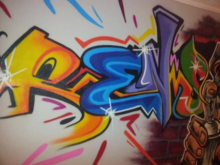 Graffiti Slaapkamer Rens   123 Graffiti