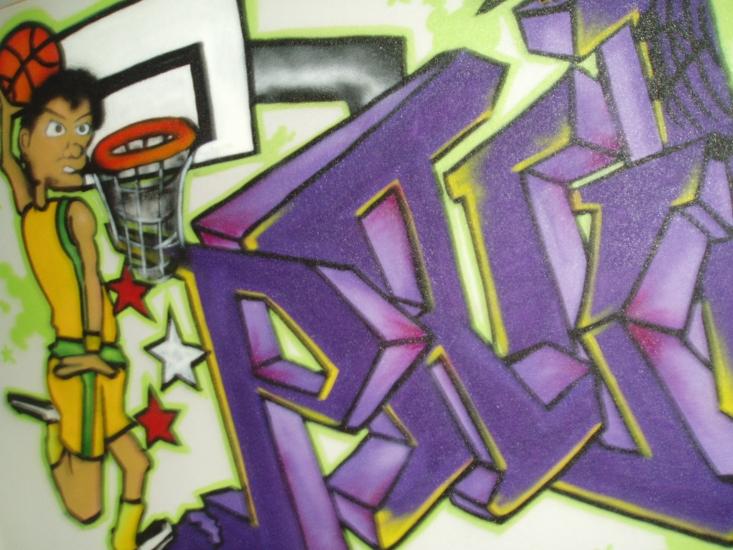 Graffiti Slaapkamer Paul | 123 Graffiti