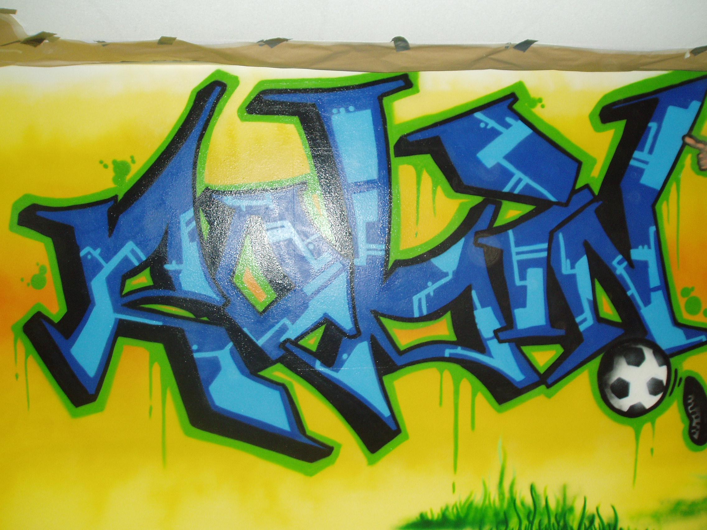 Graffiti Slaapkamer Robin   123 Graffiti