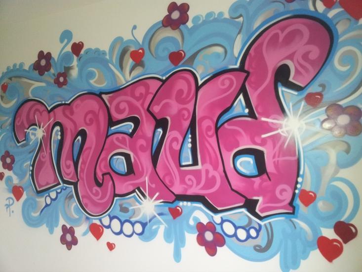 naam in graffiti